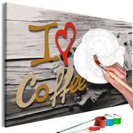 Pictura pe numere - Iubesc Cafeaua