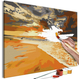 Pictura pe numere - Plaja de Aur