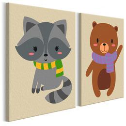 Pictura pe numere - Raton si Urs