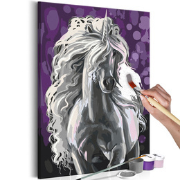 Pictura pe numere - Unicorn Alb