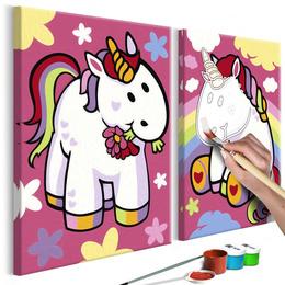 Pictura pe numere - Unicorni