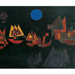 """Poster de arta Klee """"Corabii in intuneric"""""""