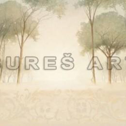 Poster Palc de copaci in ceata