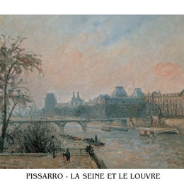 "Poster Pissaro ""Sena si Luvrul"""
