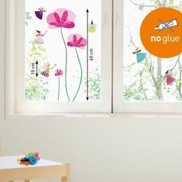 "Sticker de geam "" Flori si zane''"
