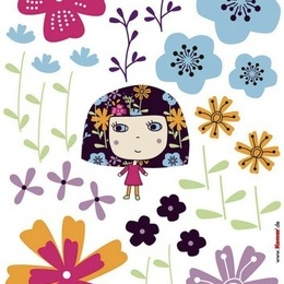 "Sticker de perete ""Flowerine"""