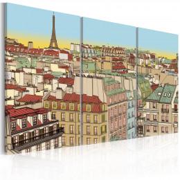 Tablou canvas Paris drag, 3 piese