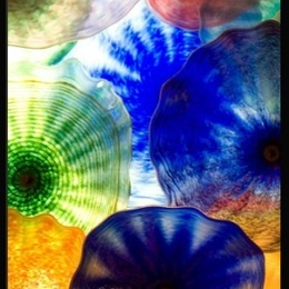 Tablou Flori de sticla I inramat
