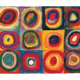 Tablou Kandinsky, Studiu de culoare la patrate, inramat