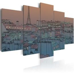 Tablou - Paris - the darkness falls