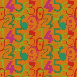 Tapet copii cu cifre colorate