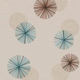 Tapet lavabil cu rozete grafice
