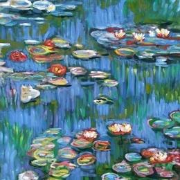 """Pictura """"Nuferi""""-reproducere Monet"""