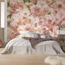 Fototapet cu trandafiri roz Rosa