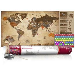 Harta răzuibilă - Vintage Map - Poster (English Edition)