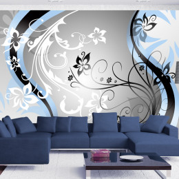 Fototapet - Art-flowers (blue)