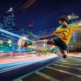 Fototapet ''Fotbal de strada''