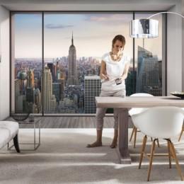 Fototapet 3D urban Penthouse vlies 368 x 248 cm
