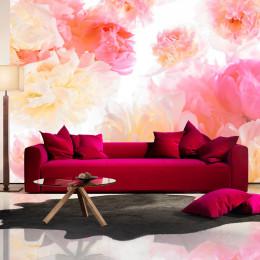 Fototapet floral - Bujori pastel