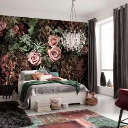 Fototapet floral pentru dormitor Velvet