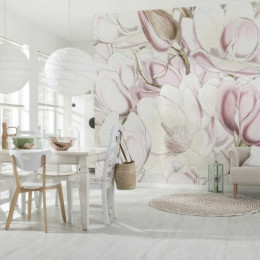 Fototapet vlies Petale de magnolie, 368x248 cm