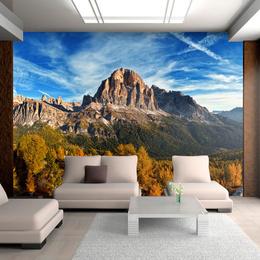 Fototapet vlies Priveliste panoramica cu Dolomitii italieni