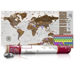 Harta răzuibilă - Grey Map - Poster (English Edition)