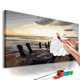 Pictura pe numere - Plaja (Rasarit de Soare)