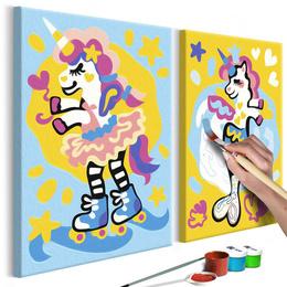 Pictura pe numere - Unicorni Amuzanti