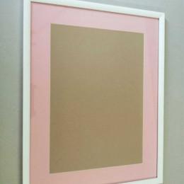 Rama foto alba A3 cu passepartout roz