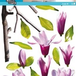 """Sticker de perete floral  """"Ramura de magnolie"""""""