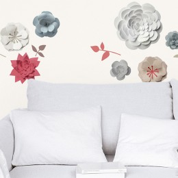 Sticker de perete Flori de hartie