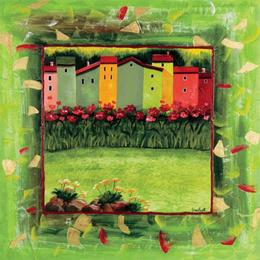 Tablou decorativ Paesino verde
