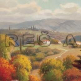 Tablou decorativ Peisaj toscan I inramat