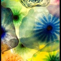 Tablou Flori de sticla II inramat