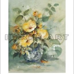 Tablou ''Flori galbene in vaza'' inramat