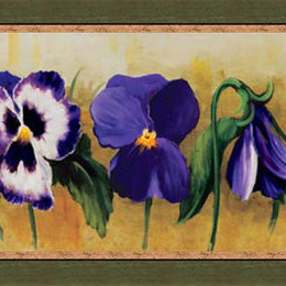 "Tablou ""Panselute violete"" inramat"