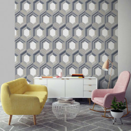 Tapet superlavabil modern geometric fagure
