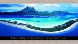 "Poster ""Bora Bora"" inramat"