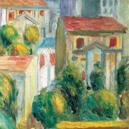 Tablou Renoir Case la Cagnes inramat