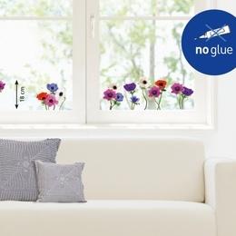 """Sticker de geam flori """"Anemone multicolore"""""""