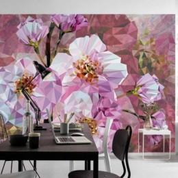 Fototapet decorativ Flori de cristal