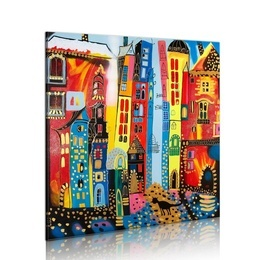 Tablou pictat manual - Magic street