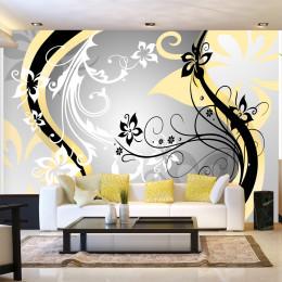 Fototapet - Art-flowers (yellow)