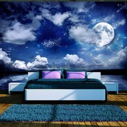 Fototapet - Cer cu luna si nori