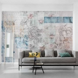 Fototapet decorativ vlies Colaj floral cu texturi