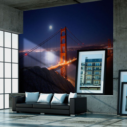 Fototapet - Golden Gate Bridge at night