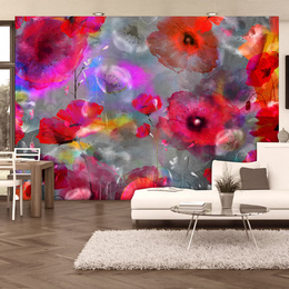 Fototapet - Painted Poppies