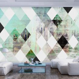 Fototapet - Rhombic Chessboard (Green)