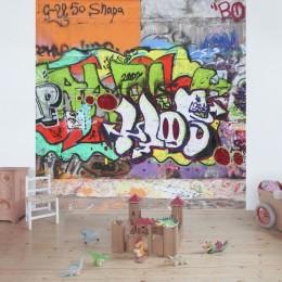 Fototapet vlies Graffiti colorat